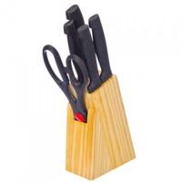 Набор ножей 5 предметов на деревянной подставке