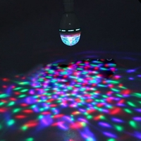 Светодиодная вращающаяся разноцветная лампа