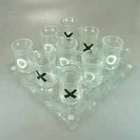 Застольная игра-крестики нолики стекляные.