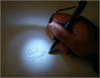 Авторучка с лазером и гибким фонариком