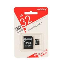Карта памяти microSD Smartbuy 32GB + адаптер SD Class 10