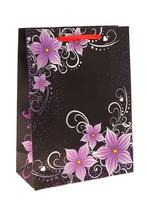 Пакет ламинированный цветочная фантазия лилии на черном