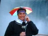 Зонт шляпа на голову Цветной