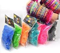 Резинки для плетения браслетов 1000шт.однотонные